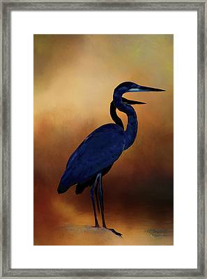 Great Blue Herons Framed Print by Theresa Campbell