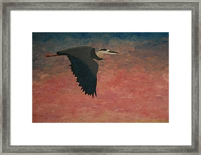 Great Blue Framed Print by Nick Flavin