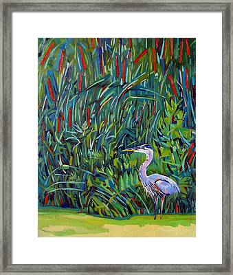 Great Blue Framed Print by Phil Chadwick