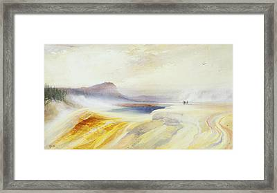 Great Blue Spring Of The Lower Geyser Basin Framed Print