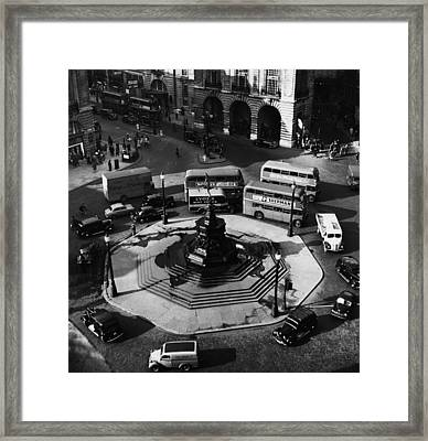 Great Britain. Piccadilly Circus Framed Print