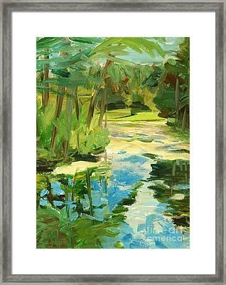Great Brook Farm Canoe Launch Framed Print