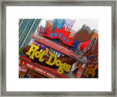 Great Charbroiled Hot Dogs Framed Print by Elizabeth Hoskinson