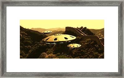 Great China Ufo By Raphael Terra Framed Print