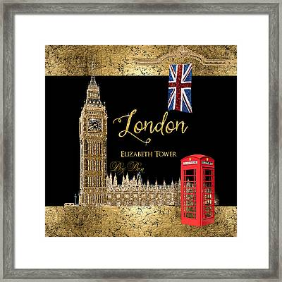 Great Cities London - Big Ben British Phone Booth Framed Print