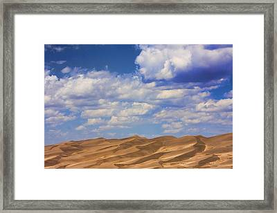 Great Colorado Sand Dunes Mixed View Framed Print by James BO  Insogna