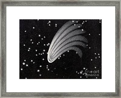 Great Comet Of 1744 Framed Print by Science Source