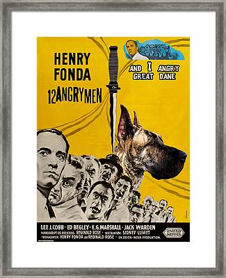 Great Dane Art Canvas Print - 12 Angry Men Movie Poster Framed Print by Sandra Sij