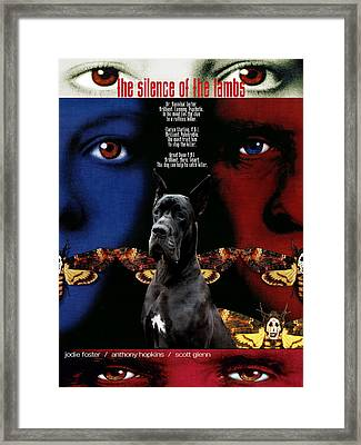 Great Dane Art Canvas Print - The Silence Of The Lambs Movie Poster Framed Print by Sandra Sij