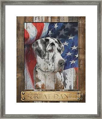 Great Dane Flag Poster Framed Print by Tim Wemple