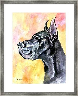 Great Dane Framed Print by Lyn Cook