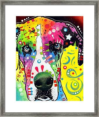 Great Dane Warpaint Framed Print by Dean Russo