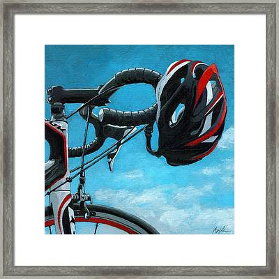 Great Day - Bicycle Oil Painting Framed Print
