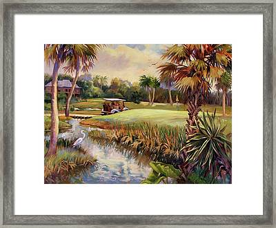 Great Day For Golf Framed Print by Dianna Willman