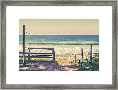 Great Day For The Beach Framed Print by Az Jackson