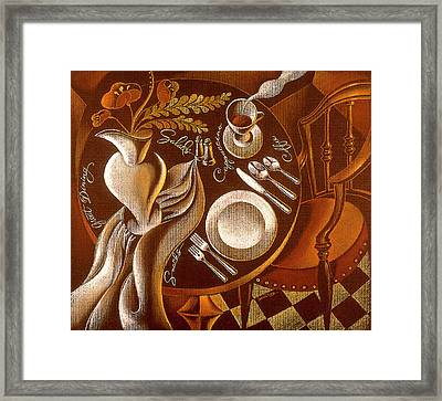 Framed Print featuring the painting Great Dining by Leon Zernitsky