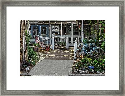 Framed Print featuring the photograph Great Eats At The Fishing Camp  -  Fishrestaurant120933 by Frank J Benz