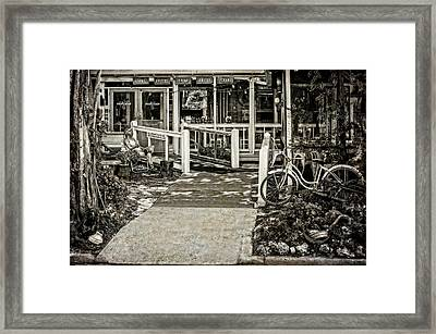 Framed Print featuring the photograph Great Eats At The Old Time Fishing Camp   -   Fishrestaurantbwantiq120933 by Frank J Benz