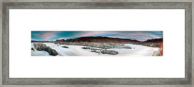 Great Falls Apres Sandy Framed Print by Edward Kreis