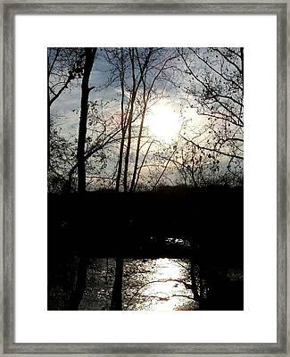 Great Falls At Dusk - Great Falls Virginia Framed Print by Fareeha Khawaja