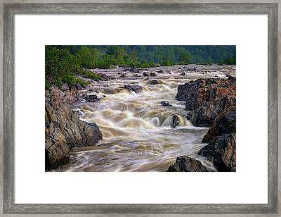 Great Falls Of The Potomac River Framed Print by Rick Berk