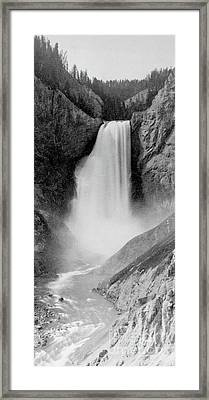 Great Falls Of The Yellowstone Framed Print by Frank Jay Haynes