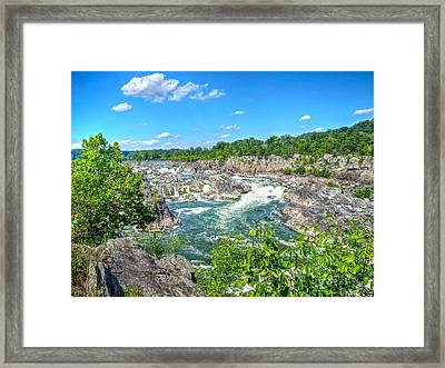 Great Falls On The Potomac Framed Print