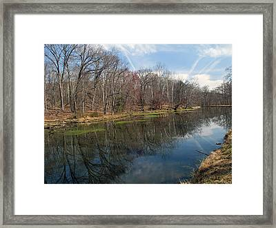 Great Falls Park Along The Towpath - Maryland - C And O Canal Framed Print by Brendan Reals