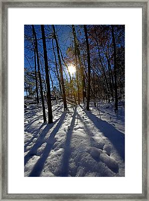 Great Falls Park Virginia After A Winter Blast Framed Print by Brendan Reals
