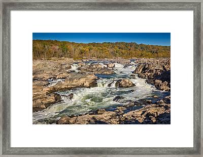 Great Falls Framed Print by Robert Davis