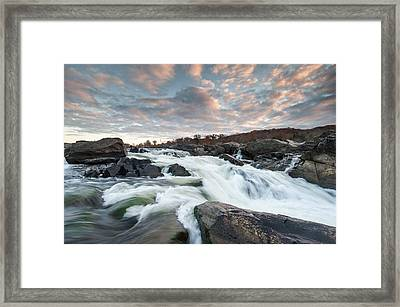 Great Falls Sunrise Over The Potomac River Framed Print