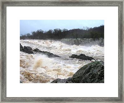 Great Falls Torrent Framed Print