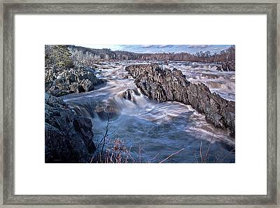 Framed Print featuring the photograph Great Falls Virginia by Suzanne Stout
