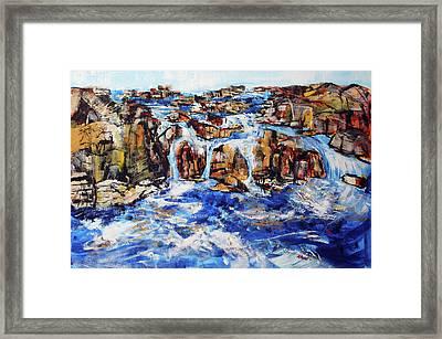 Great Falls Waterfall 201753 Framed Print by Alyse Radenovic