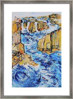 Great Falls Waterfall 201754 Framed Print by Alyse Radenovic