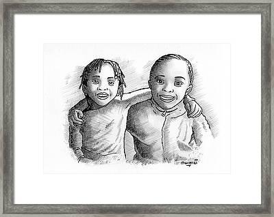 Great Friends Framed Print