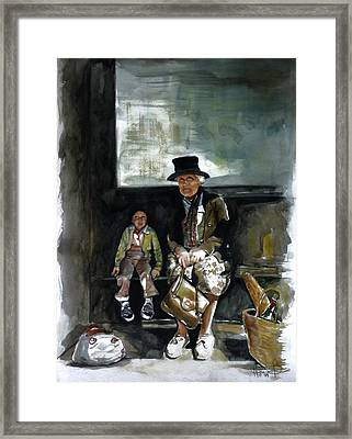 Great Grandma And Me Framed Print by Harvie Brown