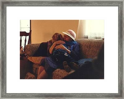 Great-grandma Hug Framed Print by Elizabeth Sullivan