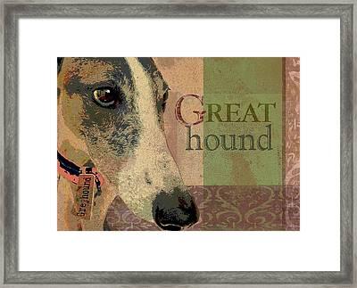 Great Greyhound Framed Print by Wendy Presseisen
