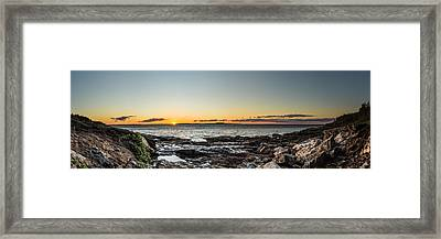 Great Head Beach Sunrise Framed Print by Brent L Ander