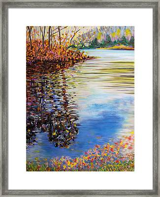 Great Hollow Lake In November Framed Print