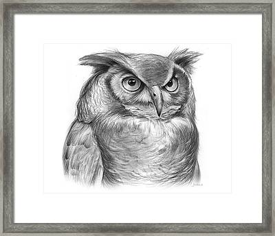Great Horned Owl Framed Print by Greg Joens