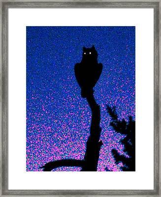 Great Horned Owl In The Desert Framed Print