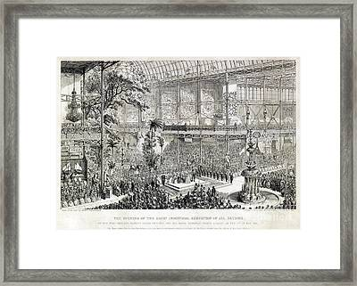 Great Industrial Exhibition Opening Framed Print