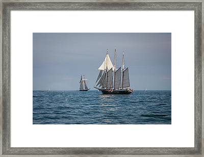 Great Lake Sailing With The Tall Ships Framed Print
