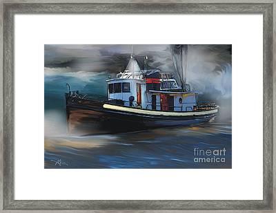 Great Lakes Tugboat Framed Print by Bob Salo