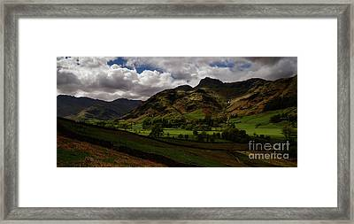 Great Langdale Valley Framed Print by John Collier