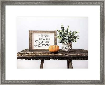 Great Love Framed Print by Kim Hojnacki