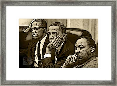 Great Minds Framed Print