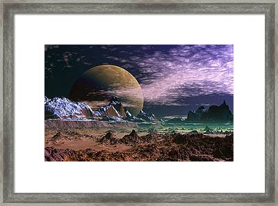Great Moona. Framed Print by David Jackson
